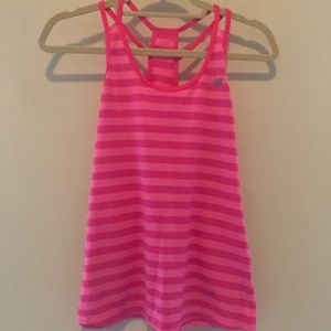 New Balance Pink Striped Athletic Top Small F41